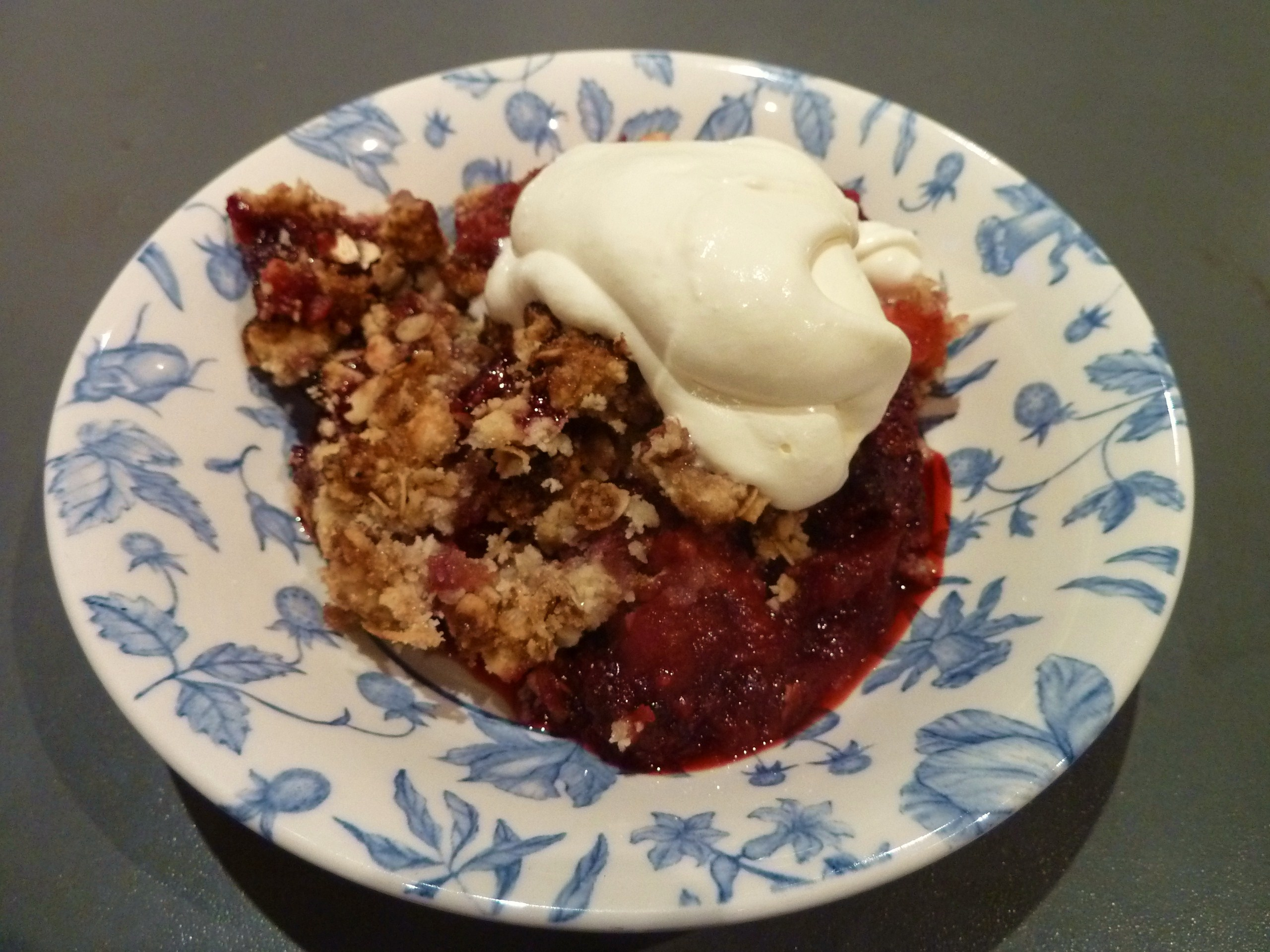 Apple And Blackberry Crumble Recipe — Dishmaps