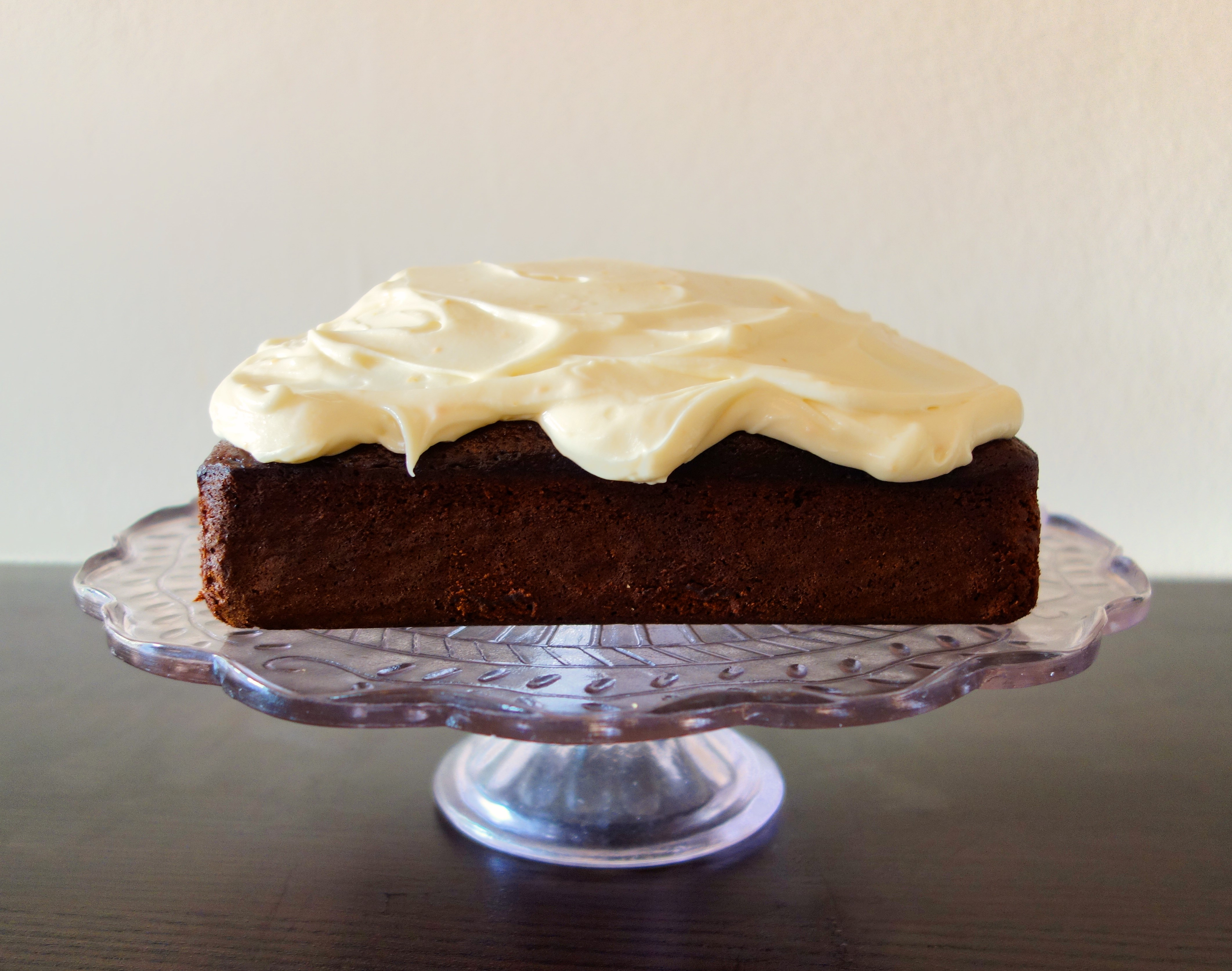 GINGERBREAD CAKE WITH ORANGE CREAM CHEESE FROSTING | A Spoonful Of ...